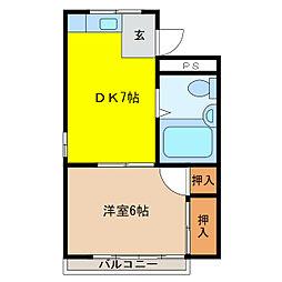 水崎ハイツ[1階]の間取り