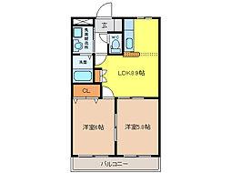 ロイヤルスクエア(岩田東)[2階]の間取り