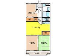 ア・ドリーム松田[2階]の間取り