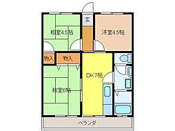 メトロポリスIII[3階]の間取り