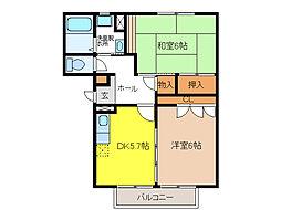 レジデンス平田[2階]の間取り
