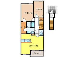 クレールVI[2階]の間取り