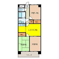 ANNEX M1[3階]の間取り