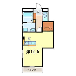 吹矢橋南マンション(仮)[1階]の間取り