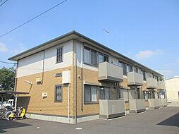 茨城県古河市新久田の賃貸アパートの外観