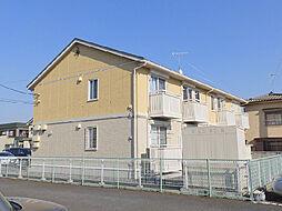茨城県古河市北町の賃貸アパートの外観