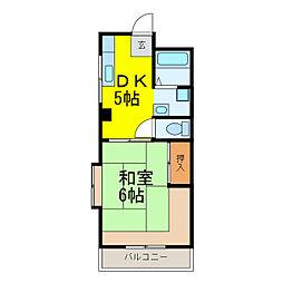 茨城県古河市東本町1丁目の賃貸マンションの間取り
