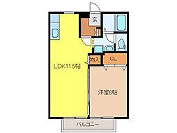 ココモハウス[2階]の間取り