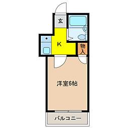 加古川第16マンション[203号室]の間取り