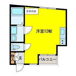 ヘリテージコート[1階]の間取り
