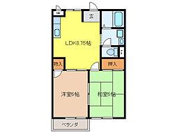 K`S HOUSE[B205号室]の間取り