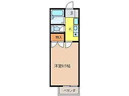 アザレ清住[1階]の間取り