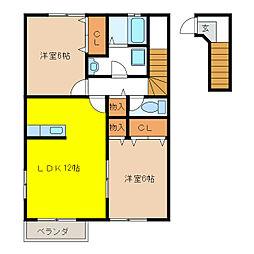 サンライズI[2階]の間取り