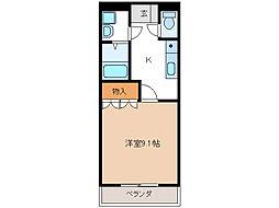 アシューレ[3階]の間取り