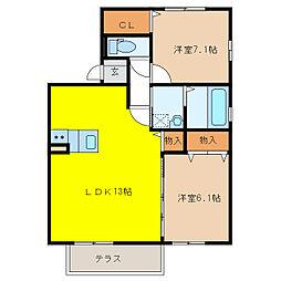 カオン[1階]の間取り
