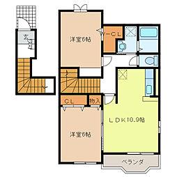 セレーナK I[2階]の間取り
