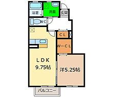 エスペランサハイツI・II[1階]の間取り