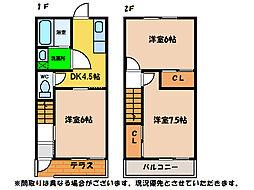 ハイツTOMINAGA[1階]の間取り