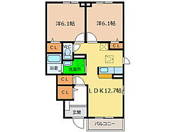 クレセント I・II・III[1階]の間取り