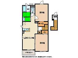 ワンピース[2階]の間取り