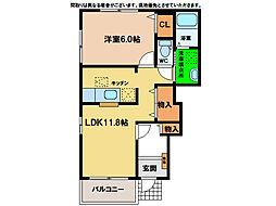 サニースクエアA・B[B101号室]の間取り