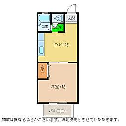 カサビエント新浜 A棟[1階]の間取り