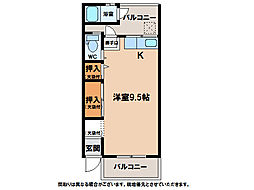静荘[1階]の間取り