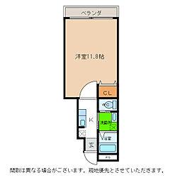 ピース・スクエア羽ノ浦A[102号室]の間取り
