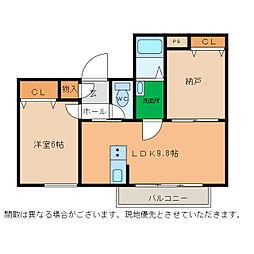 ピース・スクエア小松島[108号室]の間取り