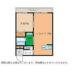 ピース・スクエア小松島[107号室]の間取り