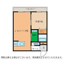 ピース・スクエア小松島[205号室]の間取り