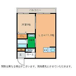 ピース・スクエア小松島[206号室]の間取り
