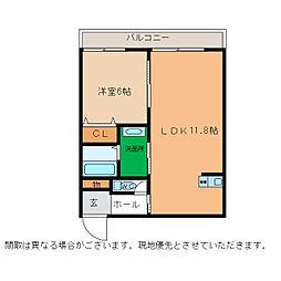 ピース・スクエア小松島[207号室]の間取り