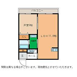 ピース・スクエア小松島[306号室]の間取り