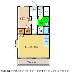 KISHIMOTOハイツII[25号室]の間取り