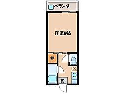 第二プリンスマンション[2階]の間取り