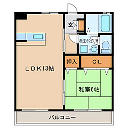 エスポアール樹[1階]の間取り