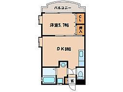 サムシング23[3階]の間取り
