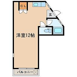 白水マンション[206号室]の間取り