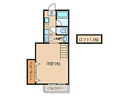 ハイムマコ[2階]の間取り