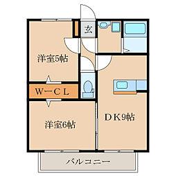 Ist-Garden A棟[2階]の間取り