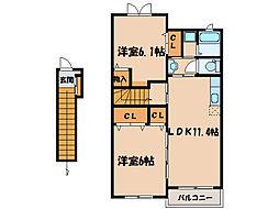 サン・グリーンI[2階]の間取り