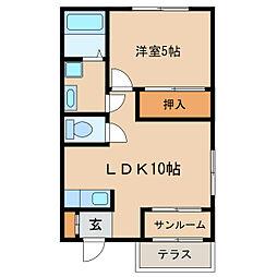 ヒルズハイアットマンション[1階]の間取り