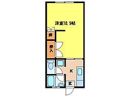コーポ・ヒマワリ[2階]の間取り