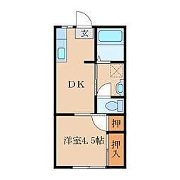新栄アパート[106号室]の間取り