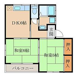 コーポ藤崎[2階]の間取り