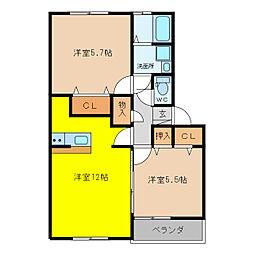 加藤ビルI[4階]の間取り