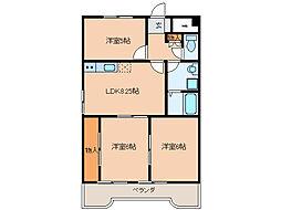 リバーサイドハイムKAZU[2階]の間取り