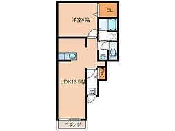 ソンリッサII[1階]の間取り