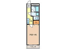 ジュネッセ・シマ[203号室]の間取り